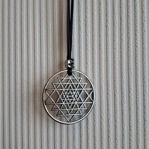 Sacred Geometry Sri Yantra necklace